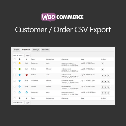 wordpress插件-WooCommerce Customer/Order CSV Export 5.3.2