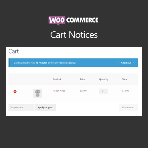 wordpress插件-WooCommerce Cart Notices 1.13.1